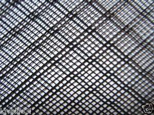 1.2mx15cm PLASTIC NET STRONG BLACK FLEXIBLE HDPE INSECT FISH MESH SCREEN FINE2mm