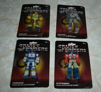 4 Transformers Figural Bag Backpack Clip Megatron Optimus Prime Soundwave Bumble