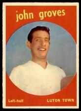 A&BC Footballers 1960 Black Back (B1) John Groves Luton Town No. 28