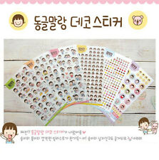 6 pcs PVC Cute Diary Decorative Adhesive Virgin child Stickers DIY Craft Decal