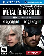 Metal Gear Solid HD Collection [Sony PlayStation Vita PSV, Stealth, 2 Games] NEW