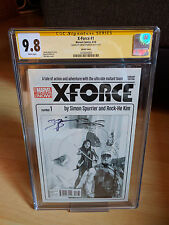 X-Force #1 Phil Noto Sketch Variant (1:100) Signed by Simon Spurrier CGC 9.8 HTF