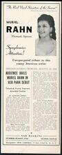 1942 Muriel Rahn photo singing recital tour booking vintage trade print ad