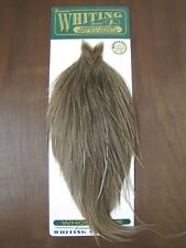 Fly Tying Whiting H/M Gold Rooster Cape Brown Grey Dun #A