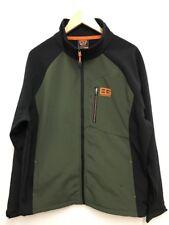 Bear Grylls Mens Khaki Green & Black Fleece Jacket Outdoors Hiking Fishing XXL