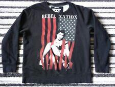 RINGSPUN REBEL NATION MENS SIZE XL L/S BLACK SWEATER/JUMPER WORN TWICE FREE P&P