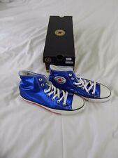 Retro Converse All Star Chuck Taylor Metálico Azul Talla UK6 Zapatillas Rrp £ 74.99