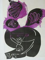 HAP Grieshaber - Für Martin Luther King, Holzschnitt 1968, 62,5 cm x 82 cm