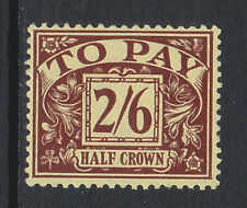 GREAT BRITAIN 1936-37 2/6d PURPLE/ YELLOW SG D26 MINT.