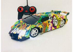 SUPER FAST RADIO REMOTE CONTROL 1:16 LED FAST DRIFTING GRAPHIC DESIGN COLOUR CAR