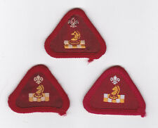1970-2000's BRITISH / UK SCOUTS - CUB SCOUT HOBBIES PROFICIENCY BADGE (3 VAR)