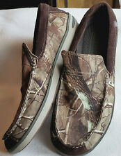 Sketchers Relaxed Fit Memory Foam Brown Camo Canvas Slip On Loafers Shoes Men 12