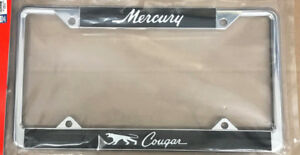 1967-1973 Mercury COUGAR License Plate Frame - Ford Licensed - Chrome