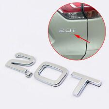 3D Auto Decal Sticker 2.0T 2.0 T Letter Engine Logo Emblem Badge Symbol Decorate