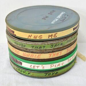 6 x 16mm Film w/ Reel + Canister Random Mix, Educational, Cartoons Ex-Library