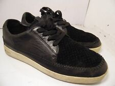 Clae Black Sneakers Leather Suede Mens Size 11.5 Romane Low CLA01242