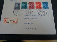 Nederland 444/448 op aangetekende brief Baarn - Winterthur 1945