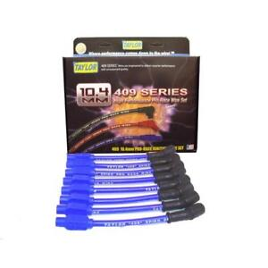 Taylor Spark Plug Wire Set 79603; 409 Pro Race 10.4mm Blue for Chevy LS Cars