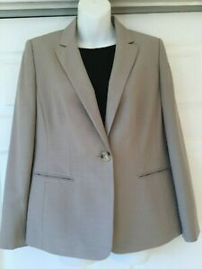 Kasper Beige One-Button Blazer Jacket with pockets size 8P_Beautiful!