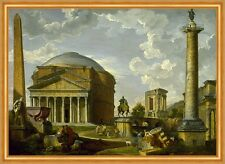The Pantheon and other Monuments of Ancient Rome Pannini Italien B A1 02114