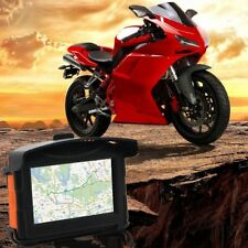 "4.3"" Motorcycle Bike Car Portable GPS Bluetooth Waterproof Navigator Touchscreen"