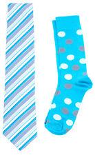 Scott Allan Men's Necktie and Dress Sock Set - (Turquoise Socks & Tie Set)
