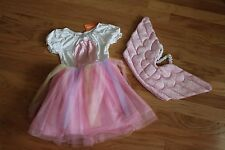 NWT Gymboree Halloween Pink/White Unicorn Costume and Wings Size 10