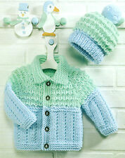 baby -childrens boys girls jacket and hat chunky knitting pattern copy 146
