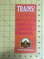 Vintage Travel Brochure Trains! The B&O Railroad Museum Baltimore Maryland