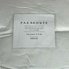 Parachute 100% Cotton Box Quilt Hypoallergenic Down Alternative Feather Bed New
