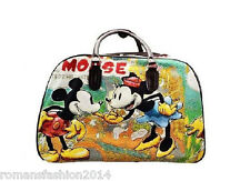 Mickey Mouse Vintage Holdall Trolley Bag,Hand Luggage Travel Large & Medium Size