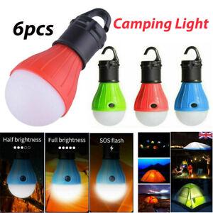 6Pcs Camping Lights LED Light Bulb Lamp Lantern Battery Operated Emergency Tent~