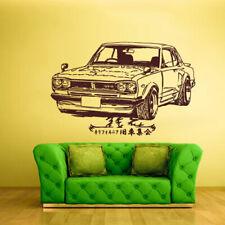 Wall Decal Vinyl Sticker Decals Old School Car GTR Illustration Japan (z1382)