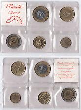 PRECURSORI EURO SASSELLO 5 MONETE I E II EMISSIONE LUGLIO E NOVEMBRE 1998 RARI
