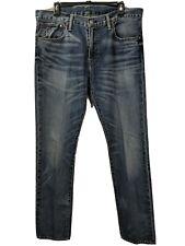 POLO RALPH LAUREN men's lt wash distressed Varick Slim Straight jeans size 34X34