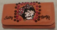 Brand New Burnt-Orange Betty Boop Wallet Minnie Mouse Bow in Hair & Wink in Eye