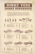 Dinky Toy original Catalogue June 1955 Canada 4 pages No 16/355/90