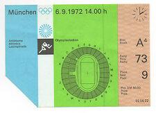 Orig. Billet Jeux Olympiques Munich 1972 - 07.09. // 7 Final's!!! RARE