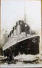 TITANIC - 1912 Original AZO Realphoto Postcard of Artist's Rendering