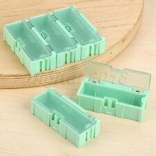 5Pcs Green Plastic Composable Electronic Component Part Storage Case Box SMT SMD