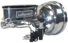 POWER BRAKE BOOSTER & WILWOOD POLISHED MASTER CYLINDER & VALVE,57-72 FORD TRUCK