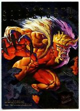 Sabretooth#6 of 9 X-Men Hunters And Stalkers 1995 Fleer Ultra Chase Card (C1404)