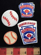 Baseball Patch Lot ~ Senior League Little League Baseball + Balls ~ 4 Patch 69U6