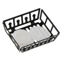 1/12 Scale Dollhouse Miniature Kitchen Metal Rack Plastic Dish Plates Set