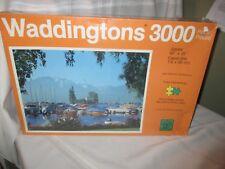 Vtg 3000 Piece Jigsaw Puzzle Waddingtons Lake Geneva, Switzerland. Sealed. 1979
