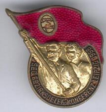 seltenes Abz. SED Bezirksdeleg.-Konferenz Leipzig 1958, teils emaillert