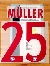 2015-16 Bayern Munich Away Shirt MULLER#25 OFFICIAL SportingiD Name Number Set