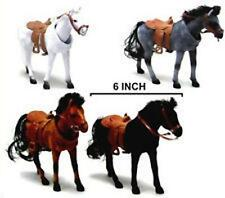 4 BOBBING MOVING HEAD HORSES animals fun toys toy race horse BOBBLE NOVELTIES