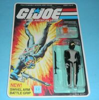*RECARDED* 1983 GI Joe Torpedo v1 Figure Complete Sealed *CUSTOM File Card Back*