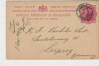 great britain 1900 London cancel from Marston & Co ltd stamps card ref 21380